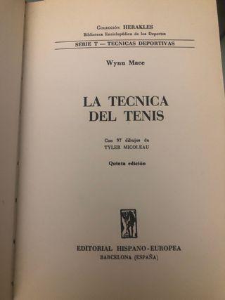 Libro LA TÉCNICA DEL TENIS. 1962