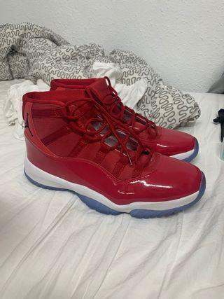 "Jordan 11 ""Bred"" talla 47 (US 13)"
