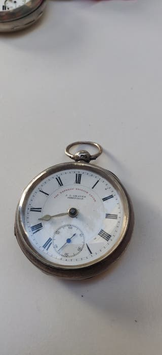 reloj plata bolsillo
