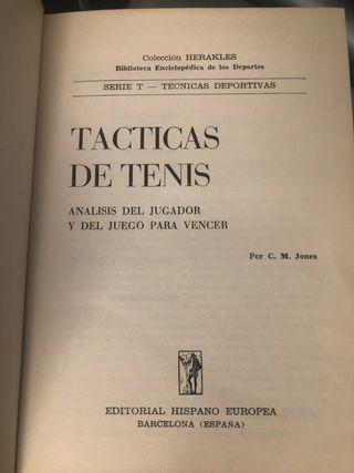 Libro Tácticas del tenis. 1973