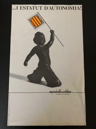 Cartel antiguo catalunya estatut d' autonomía