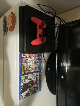 Pack Ps4 con videojuegos y mando.