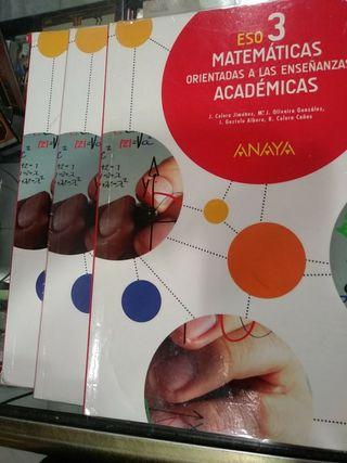 Libro ESO 3 Matemáticas 3 libros