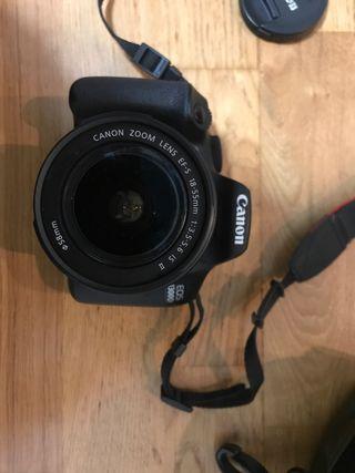 Cámara de fotos réflex Canon EOS 1300D + objetivo