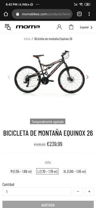 BICICLETA DE MONTAÑA EQUINOX 26