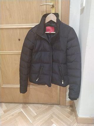 abrigo chaqueta corto plumas