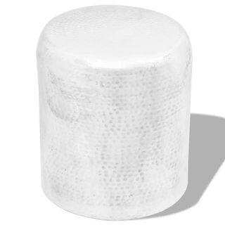 Taburete/mesa de centro de aluminio martillado pl