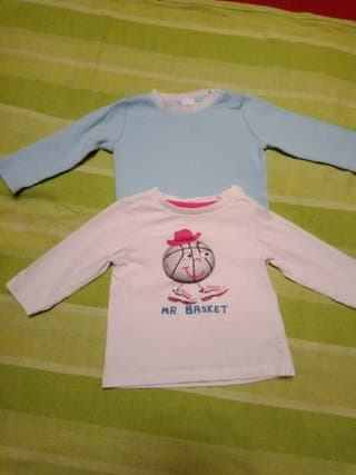 lote 2 camisetas bebé