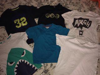 lote 6 camisetas niño 2-3 años
