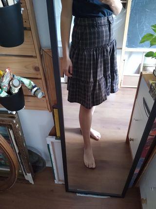 falda nueva de lana