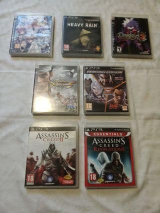 Lote 7 Juegos PS3 - Fighting, Assasin's, Disgaea