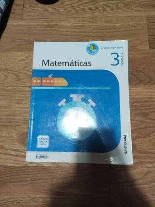 libro de matemáticas 3° primaria