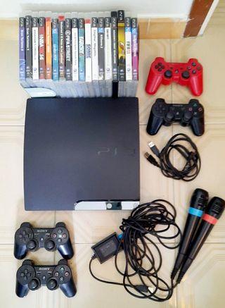Lote PlayStation 3 Slim 320G 18 juegos+periféricos