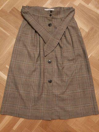 falda mango talla s