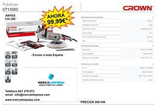 PULIDORA CROWN CT13302 1300W