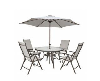 Mesa y parasol para terraza