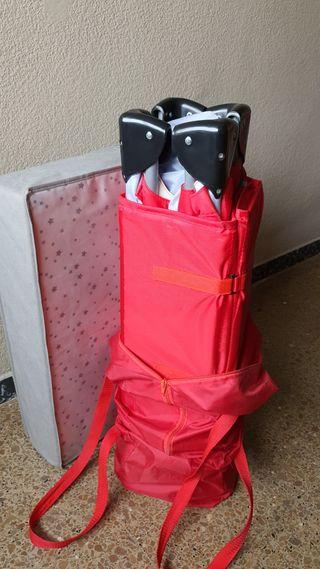 Cuna plegable (de viaje) + colchón plegable