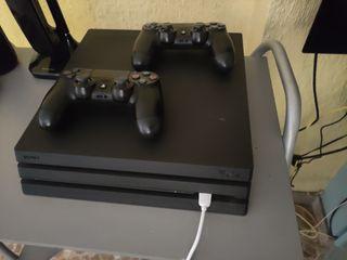 PS4 pro 1 tb con dos mandos
