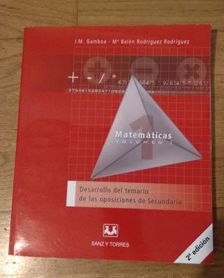 2 Libros oposiciones matemáticas secundaria