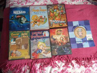 Lector DVD y películas infantiles.