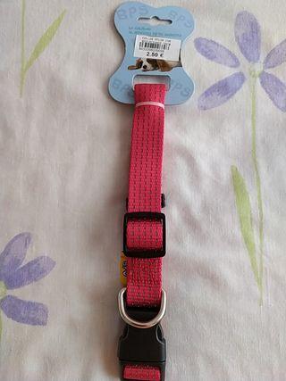 Collar de perro 70cm nylon con reflectante. NUEVO