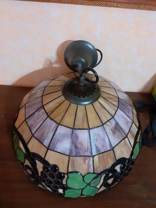 Lámpara de cristal de cocina estilo Tiffany