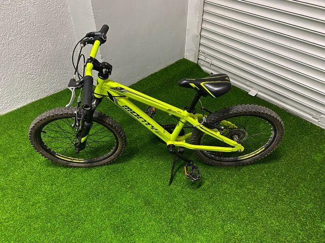 Bicicleta monty con cambio de marchas
