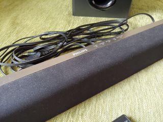 Barra de sonido Philips con subwoofer y mando