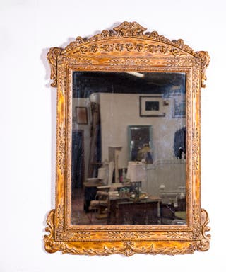 Espejo Antiguo Dorado