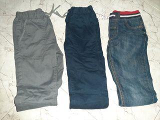 pack pantalones niño termicos