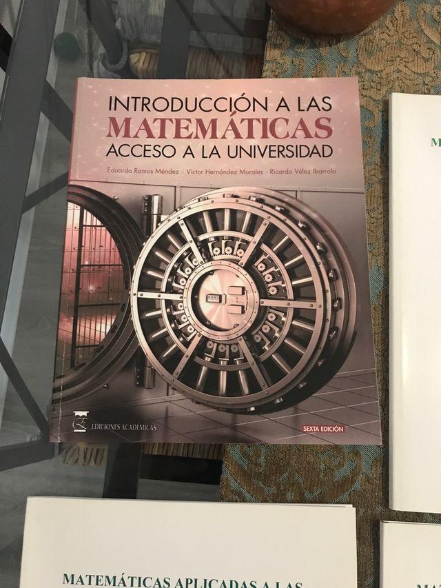 Acceso a la universidad matemáticas+libros apoyo