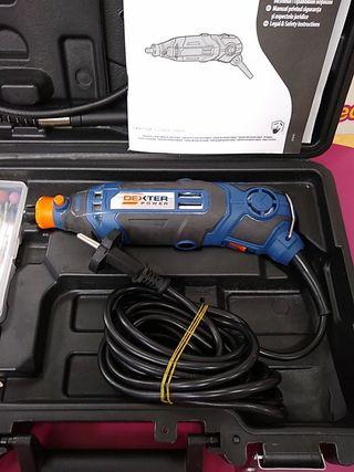 Mini taladro Dexter PC150MD con maletin