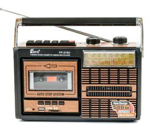 Radio Cassette Vintage conexión USB y tarjetas SD