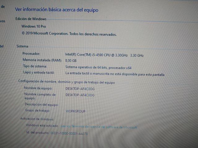 Ordenador/Pc Sobremesa DELL OPTIPLEX Intel i5