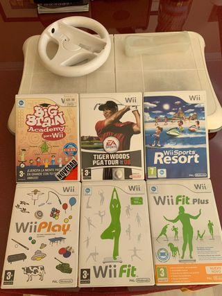 Pack de 6 Juegos de Wii