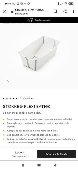 bañera plegable Stokke flexi bath y soporte