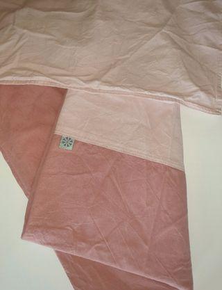 funda nórdica y fanda de almohada rosa cuna