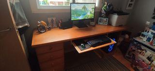 mesa y cajonera para ordenador