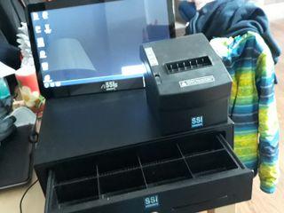 caja registradora , pantalla +impresora + caja