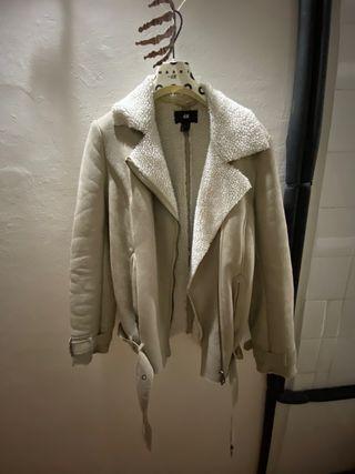 Chequeta de aviador beige H&M