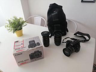 Lote Canon 400D más objetivos y mochila