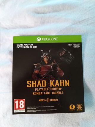 MORTAL KOMBAT 11 XBOX ONE DLC SHAO KHAN NUEVO