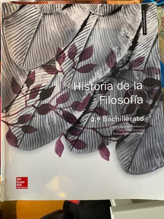 Libro Historia de la Filosofía 2°Bachillerato