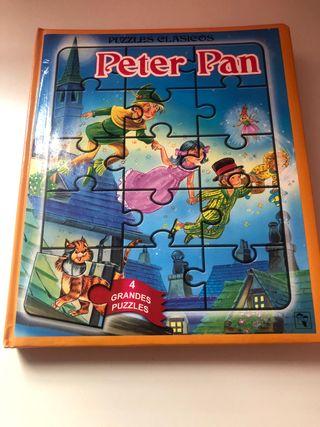 Libro con 4 puzzles Peter Pan