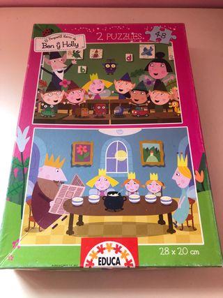 2 puzzles Ben y Holly