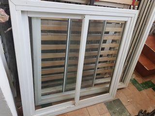 ventana corredera aluminio 120con marco de hierro
