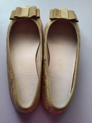 Bailarinas/ manoletinas talla 38