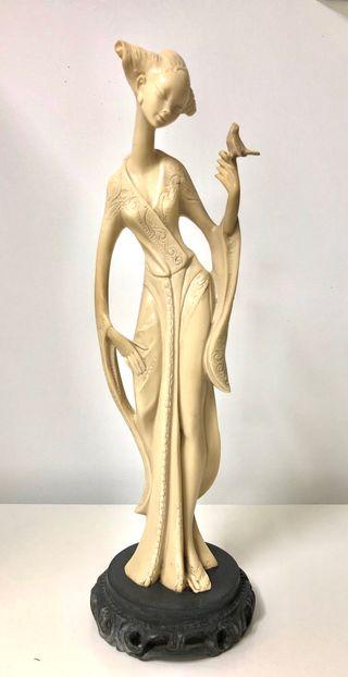 Espectacular figura antigua GEISHA 48 cms