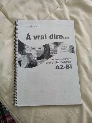 libro francés À vrai dire