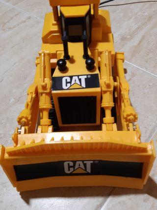 Grúa excavadora con motor de juguete con mando